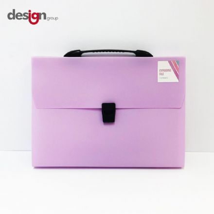 IG Design Group Expanding File Pastel Lilac - 13 Pocket